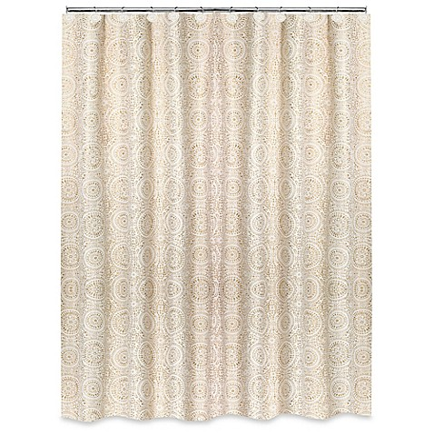 Popular Bath Cascade Shower Curtain In Beige