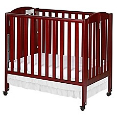 image of Dream On Me 3-in-1 Folding Portable Crib in Cherry