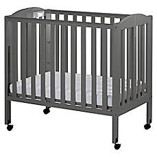 Dream On Me 3 In 1 Folding Portable Crib In Steel Grey