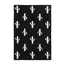 image of Lorena Canals Cactus 5' x 7' Area Rug in Black/White