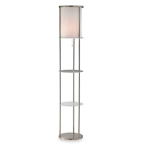 Buy adessor holden shelf floor light from bed bath beyond for Shelf floor lamp bed bath and beyond