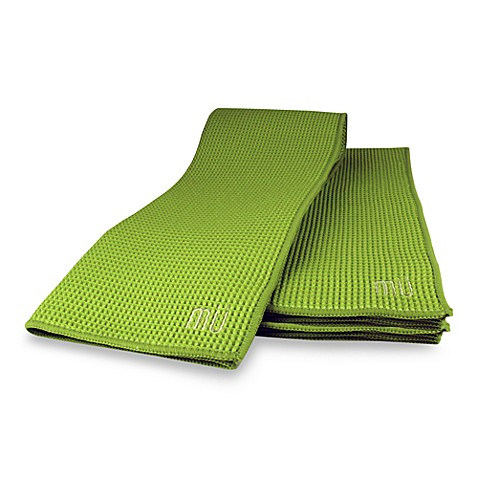 MU Kitchen™ Waffle Kitchen Towels in Grass (Set of 2)