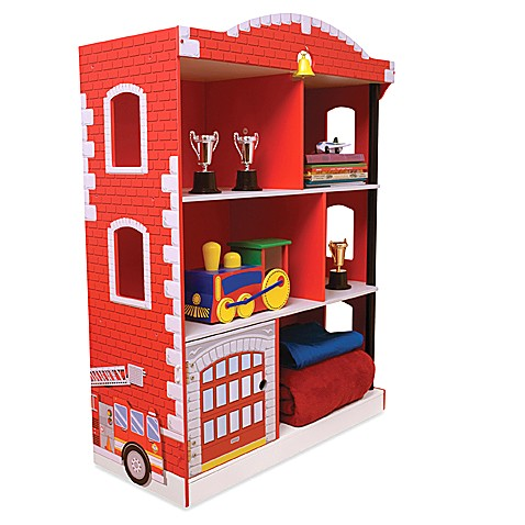 kidkraft firehouse bookcase bed bath beyond. Black Bedroom Furniture Sets. Home Design Ideas