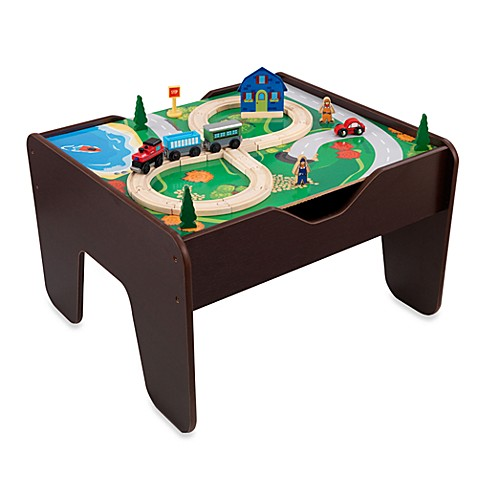 kidkraft 2 in 1 activity table with board in espresso. Black Bedroom Furniture Sets. Home Design Ideas