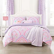 Romer Reversible Comforter Set In Pink