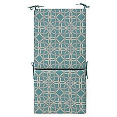 image of Commonwealth Home Fashions Keene Outdoor High Back Cushion in Aqua