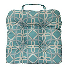 image of Commonwealth Home Fashions Keene Outdoor Adirondack Cushion in Aqua