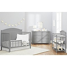 Sorelle Berkley Round Top Panel Nursery Furniture Collection In Grey