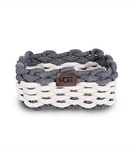 Organizador para tocador Sadie UGG® en gris carbón/blanco