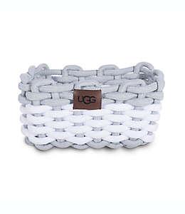 Contenedor de algodón Napa UGG® con tejido de cuerda en gris agave