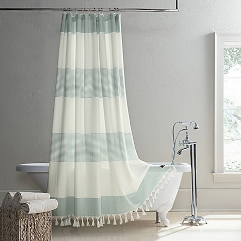 Ugg 174 Napa Yarn Dyed Stripe Shower Curtain In Agave Bed