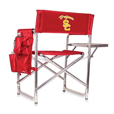 University of Southern California Picnic Time® Red Collegiate Folding Sports Chair