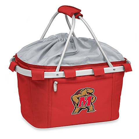 Picnic Time® University of Maryland Collegiate Metro Basket in Red