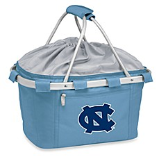 image of Picnic Time® Sky Blue Collegiate Metro Basket - University of North Carolina