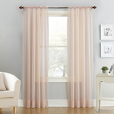 Voile Sheer Rod Pocket Window Curtain Panel