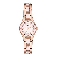 image of Relic® Charlotte Ladies' 25mm Bracelet Watch in Rose Gold Stainless Steel