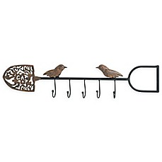 image of Boston International Weathered Metal Shovel Wall Hanger in Brown
