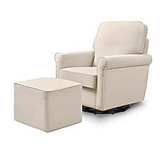 image of DaVinci Maya Swivel Glider and Ottoman Set