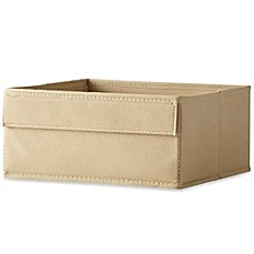 image of Real Simple® Half Height Fabric Drawer in Mocha