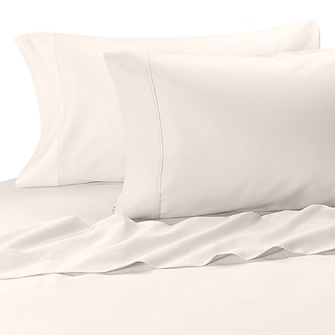 MicroTouch California King Sateen Sheet Set in White