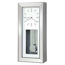 image of Howard Miller® Chaz Wall Clock in Satin Silver