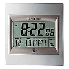 image of Howard Miller® Techtime II Alarm Clock in Silver