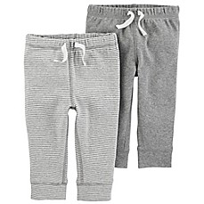 image of carter's® 2-Pack Pull-On Pant in Grey