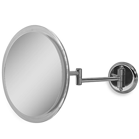 Zadro™ 5X Wall-Mounted Makeup Mirror in Chrome