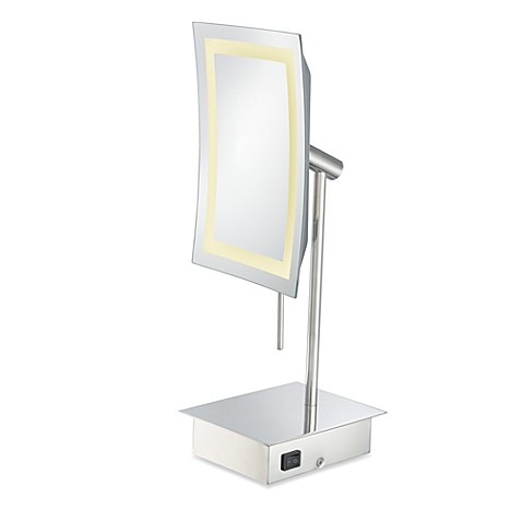 kimball young single sided 3x led rectangular minimalist vanity mirror. Black Bedroom Furniture Sets. Home Design Ideas
