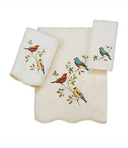 Toalla fingertip de algodón Avanti Premier Songbirds® color marfil