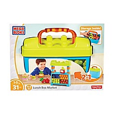 image of Mega Bloks 31-Piece Fisher-Price Lunch Box Market