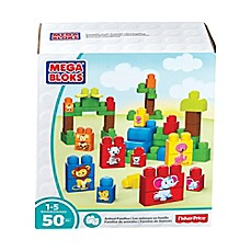 image of Mega Bloks 50-Piece Fisher-Price Animal Families Jigsaw Puzzle