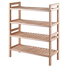 winsome inspiration white shoe cabinet. image of Winsome Mercury 2 Piece Stackable Shoe Rack in Natural Racks  Storage Boxes Organizers Bed Bath Beyond
