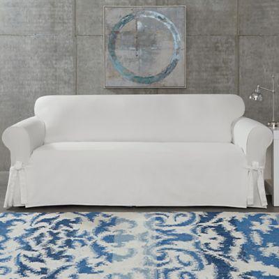 SUREFIT Cotton Canvas Wrinkle Resistant Sofa Slipcover
