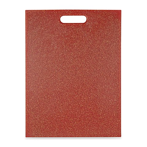 Architec poly flax 12 inch x 16 inch cutting board in red for Architec cutting board