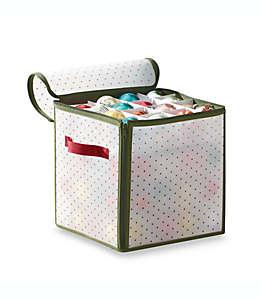 Caja Real Simple®, para almacenar 64 adornos navideños