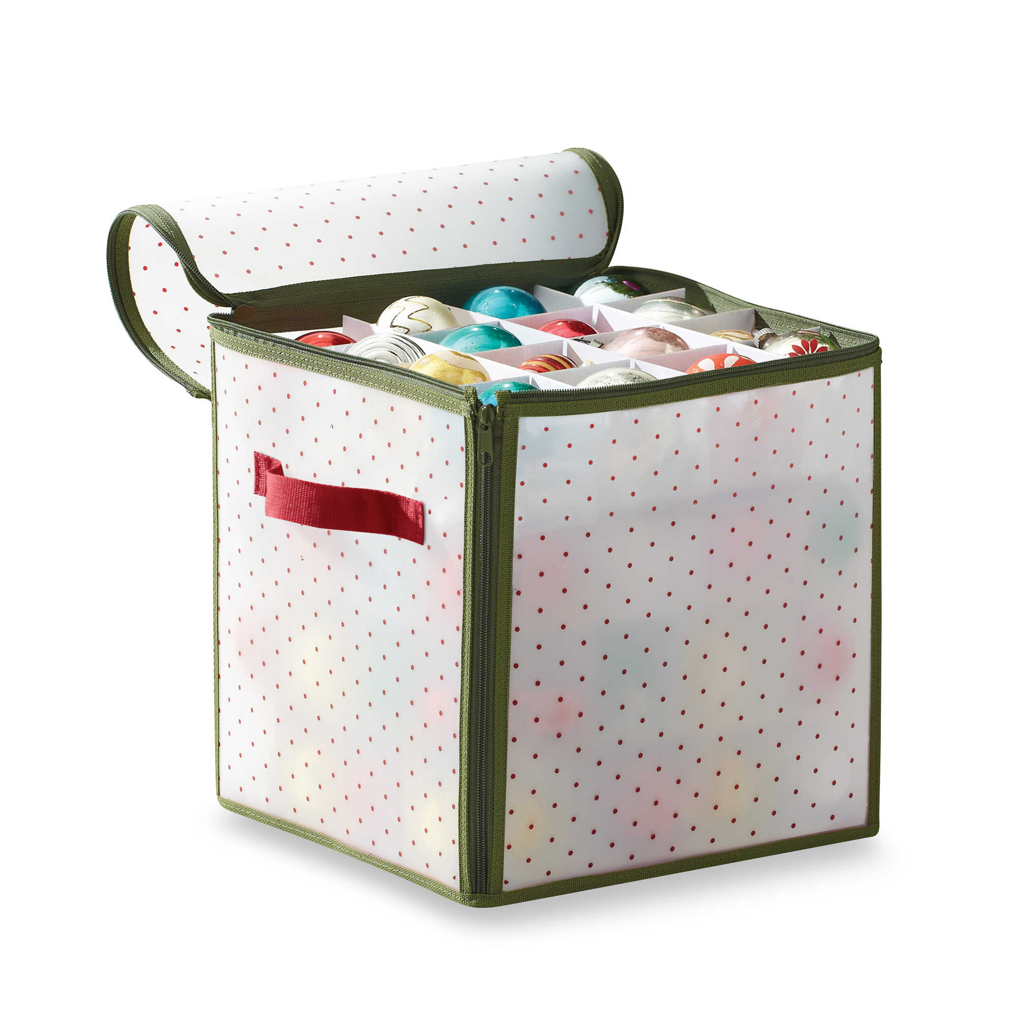 Real Simple Reg Holiday 64 Count Ornament Storage Box