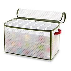 Real Simple Holiday 112 Count Ornament Storage Box