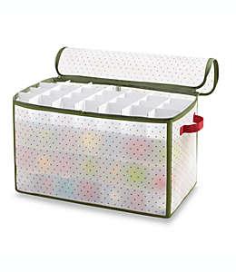 Caja Real Simple®, para almacenar 112 adornos navideños