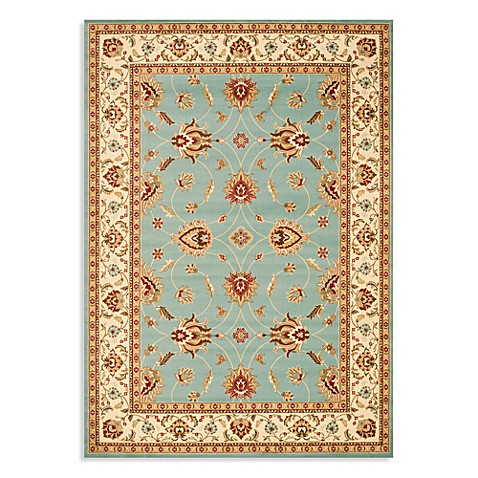 Safavieh Lyndhurst Flower 5-Foot 3-Inch x 7-Foot 6-Inch Room Size Rug in Blue