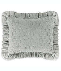 Funda estándar de algodón para almohada Levtex Home color azul