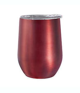 Vaso de acero inoxidable y acrílico para vino Cheers™ Oggi™ color rojo