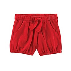 image of OshKosh B'gosh® Tie-Front Bubble Shorts in Red