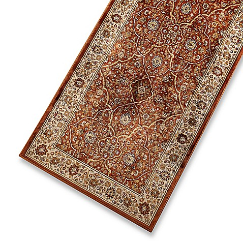 Verona Collection Persian Rug In Rust Cream Bed Bath