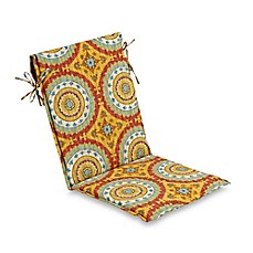 image of Outdoor Sling Back Sunset Cushion in Red