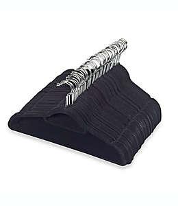 Ganchos para trajes en negro Real Simple® Slimline, 50 piezas