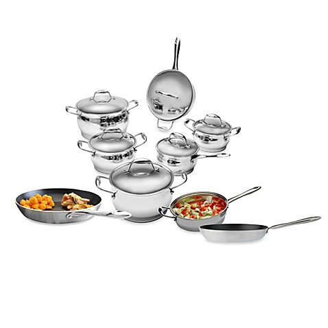 Berghoff zeno stainless steel 12 piece cookware set and for Zeno kitchen set