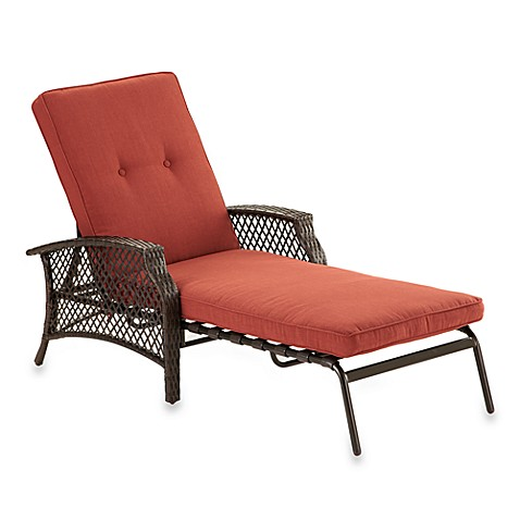 Perfect Image Of Stratford Wicker Padded Chaise Lounge