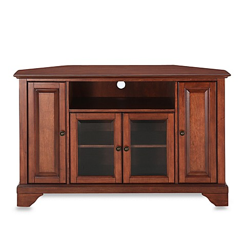 Buy Crosley Lafayette 48 Inch Corner Tv Stand In Cherry From Bed Bath Beyond