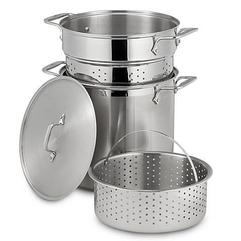 All clad 12 quart stainless steel multi cooker bed bath for Art cuisine chaudron